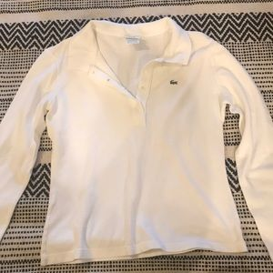 Lacoste long sleeve white size 12 (small)